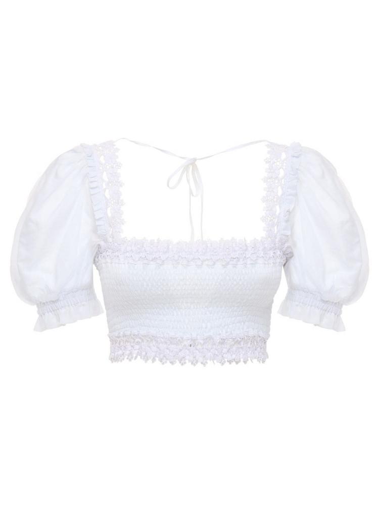 CHARO RUIZ Judy Cropped Cotton Top in white