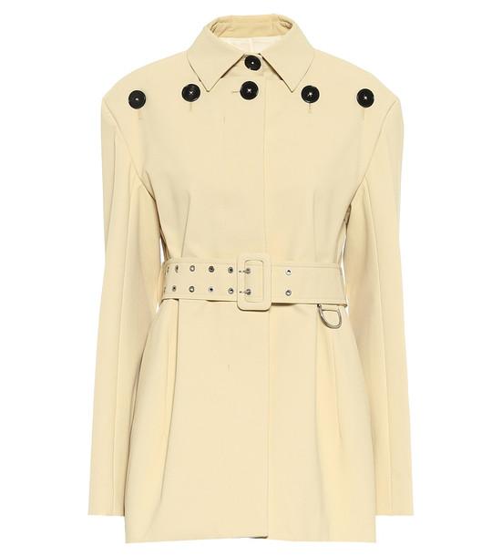 Jil Sander Belted cotton jacket in beige