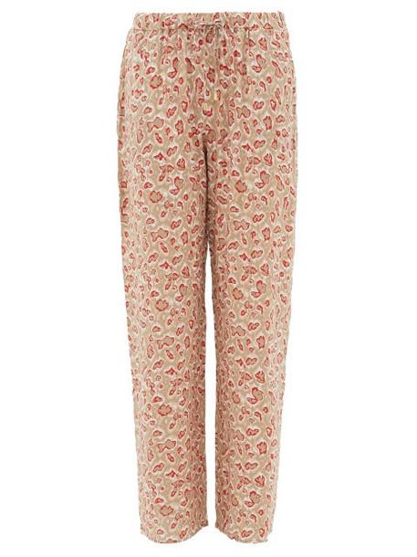 Hanro - Leopard-print Drawstring-waist Pyjama Trousers - Womens - Beige Print
