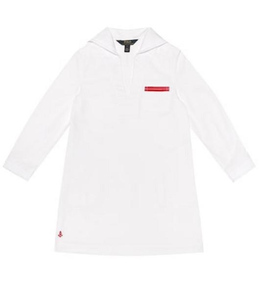 Polo Ralph Lauren Kids Cotton-twill dress in white