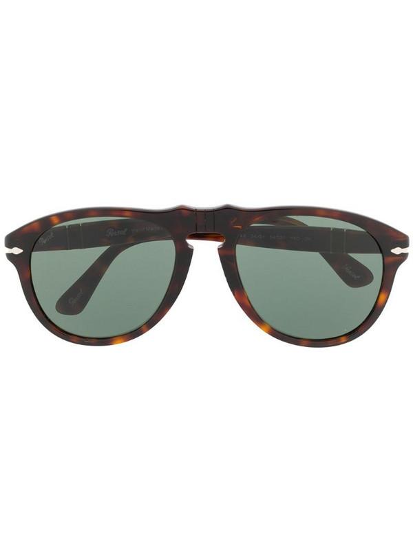 Persol aviator shaped sunglasses in brown
