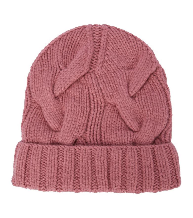 Loro Piana Rougemont cashmere beanie in pink