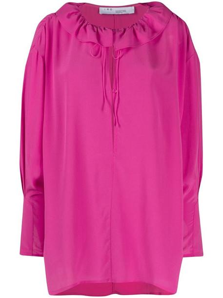 IRO Niklo silk blouse in pink
