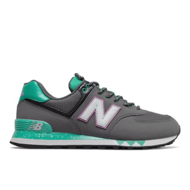 New Balance 574 Men's 574 Shoes - Grey/Blue (ML574FT)