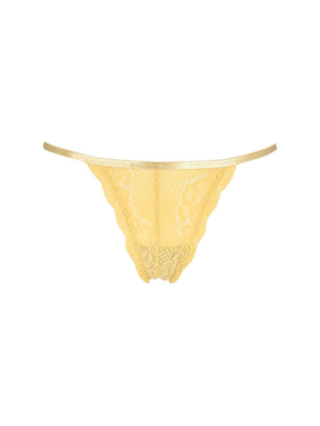 UNDERPROTECTION Lvr Sustainable Lisa Lace Thong Briefs in yellow