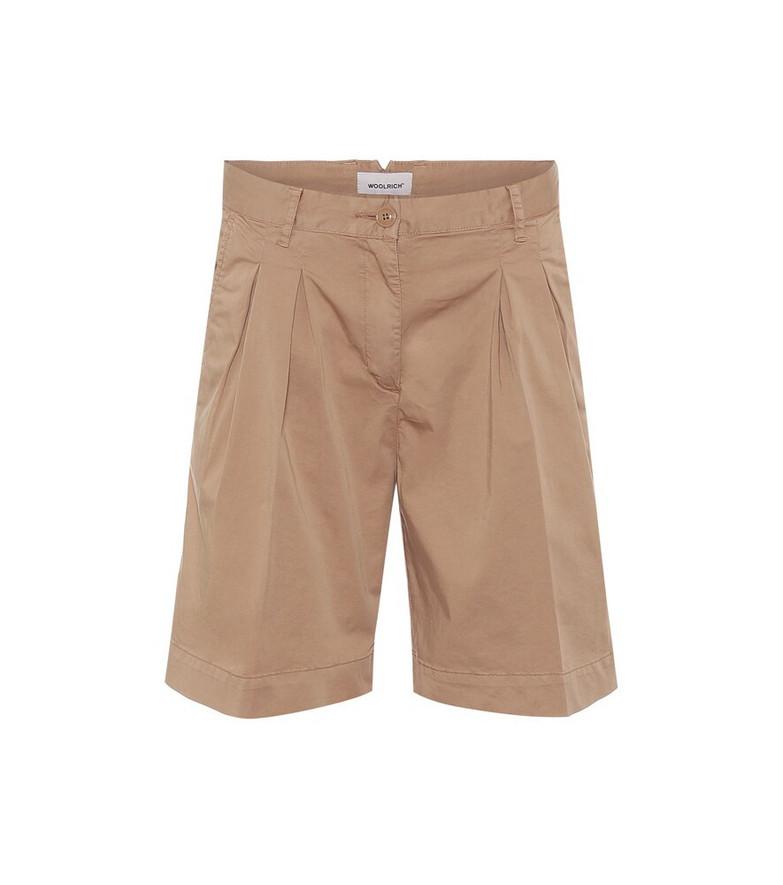 Woolrich W'S stretch-cotton shorts in beige