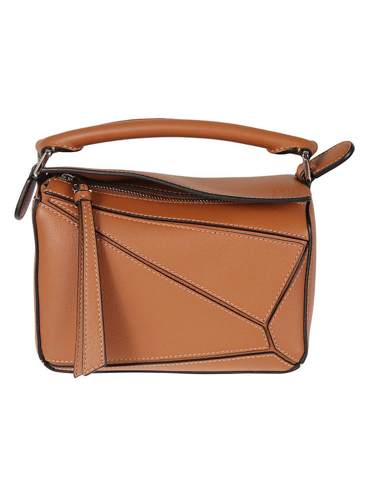 Loewe Mini Puzzle Shoulder Bag in tan