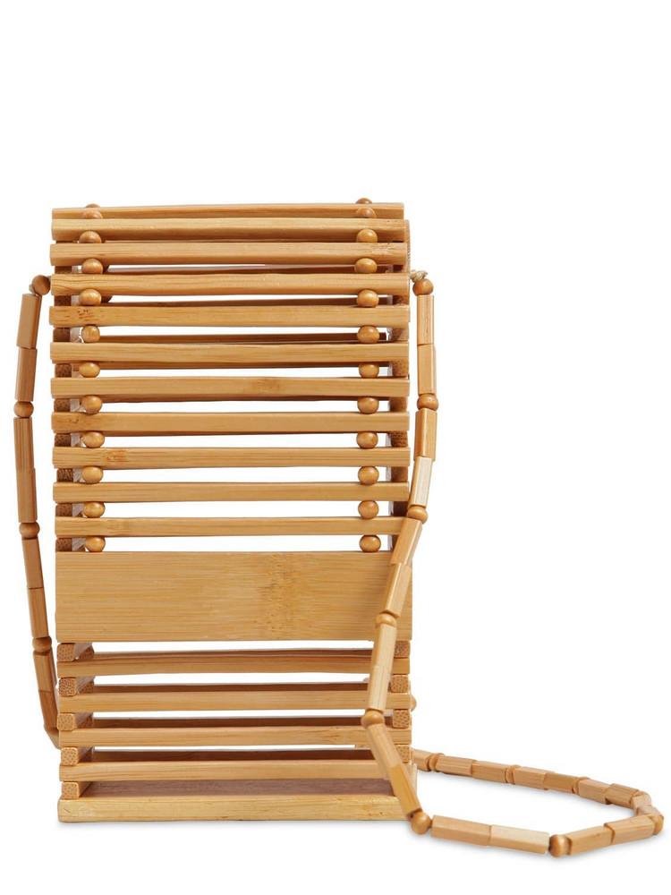 CULT GAIA Sylva Bamboo Shoulder Bag in tan