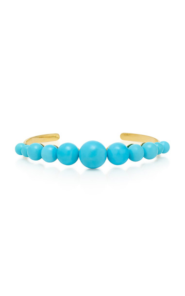 Irene Neuwirth 18K Gold And Turquoise Cuff