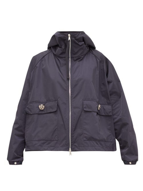 Moncler - Acier Technical Gabardine Hooded Jacket - Womens - Navy