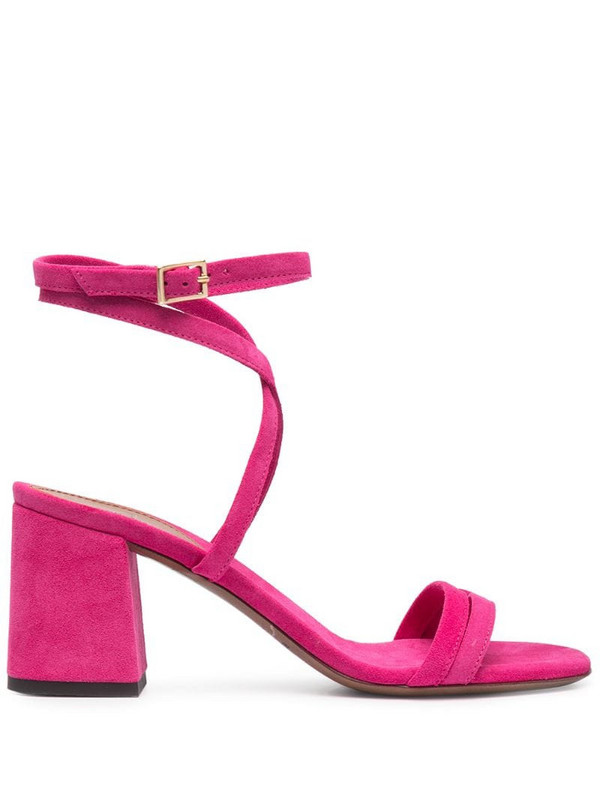 L'Autre Chose suede crossover sandals in pink