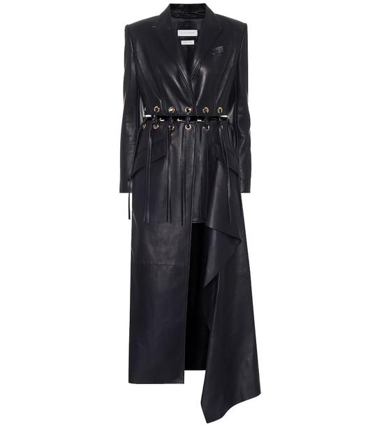 Alexander McQueen Leather coat in black