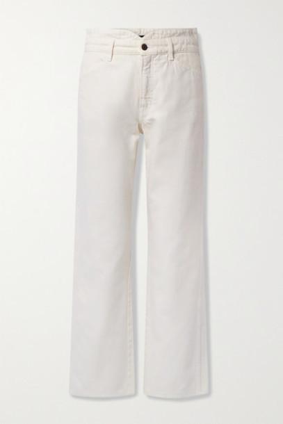 Veronica Beard - Blake High-rise Straight-leg Jeans - Off-white
