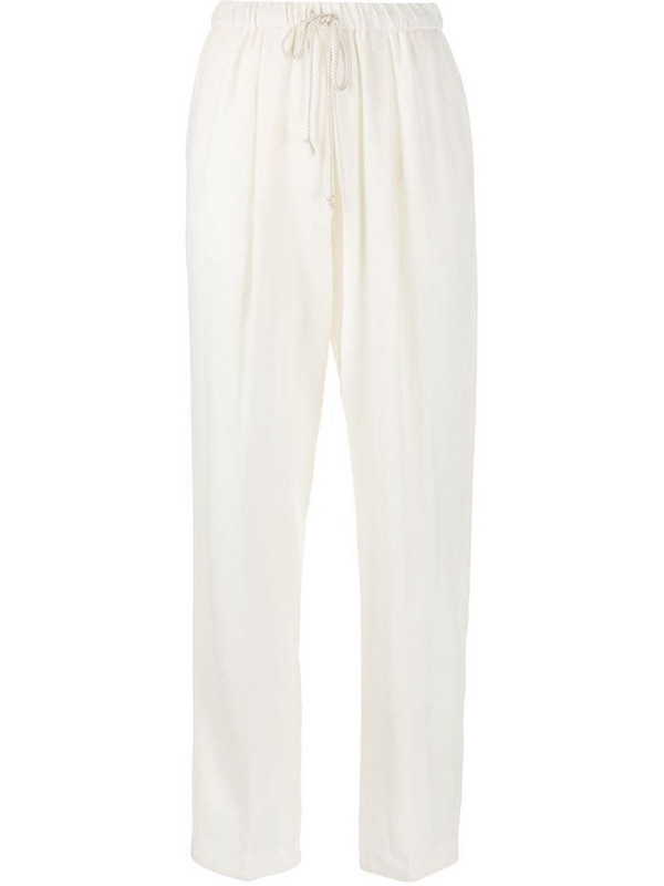 Forte Forte drawstring wide leg trousers in white
