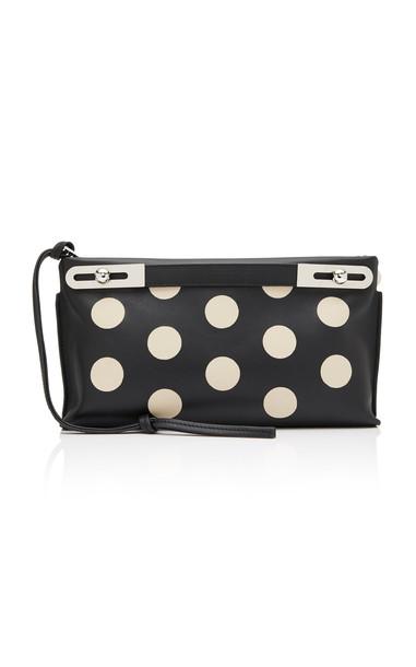 Loewe Missy Polka Dot Leather Bag in black / white