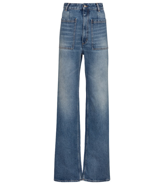 MM6 Maison Margiela High-rise straight jeans in blue
