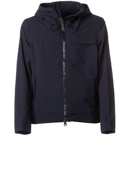 Herno Herno Blue Hooded Jacket