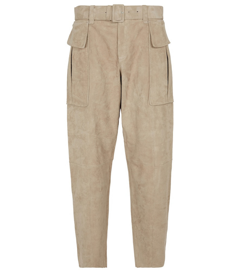 STOULS Butch suede cargo pants in beige