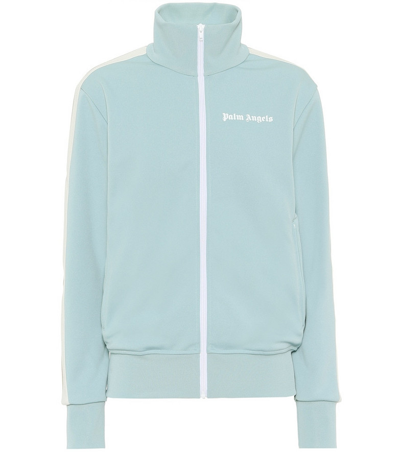 Palm Angels Logo track jacket in blue