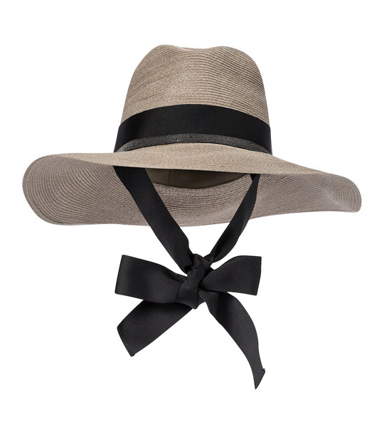 Brunello Cucinelli Embellished hemp and cotton hat in beige
