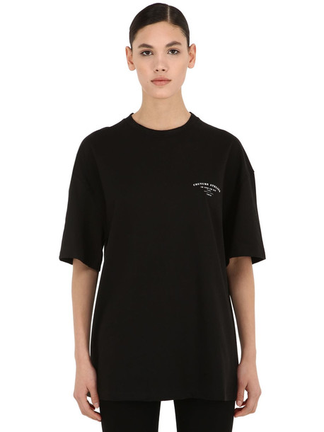 IH NOM UH NIT Couture Atelier Cotton Jersey T-shirt in black