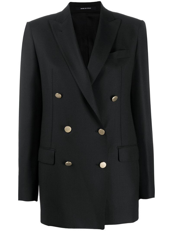 Tagliatore Jasmine double breasted blazer in black