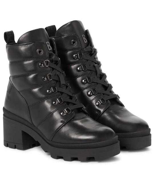 BOGNER Belgrade quilted leather ankle boots in black