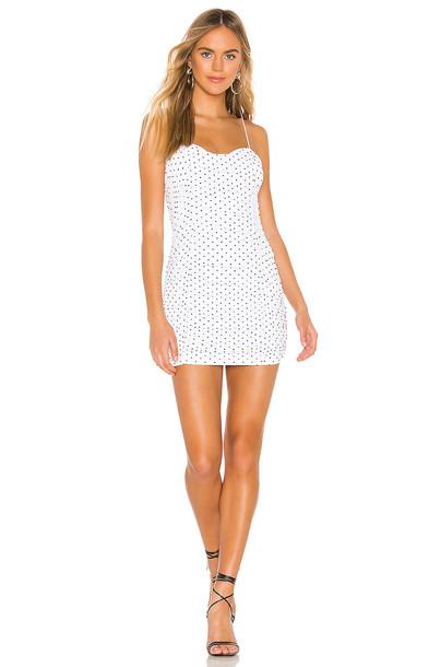 superdown Araya Ruched Cami Dress in white