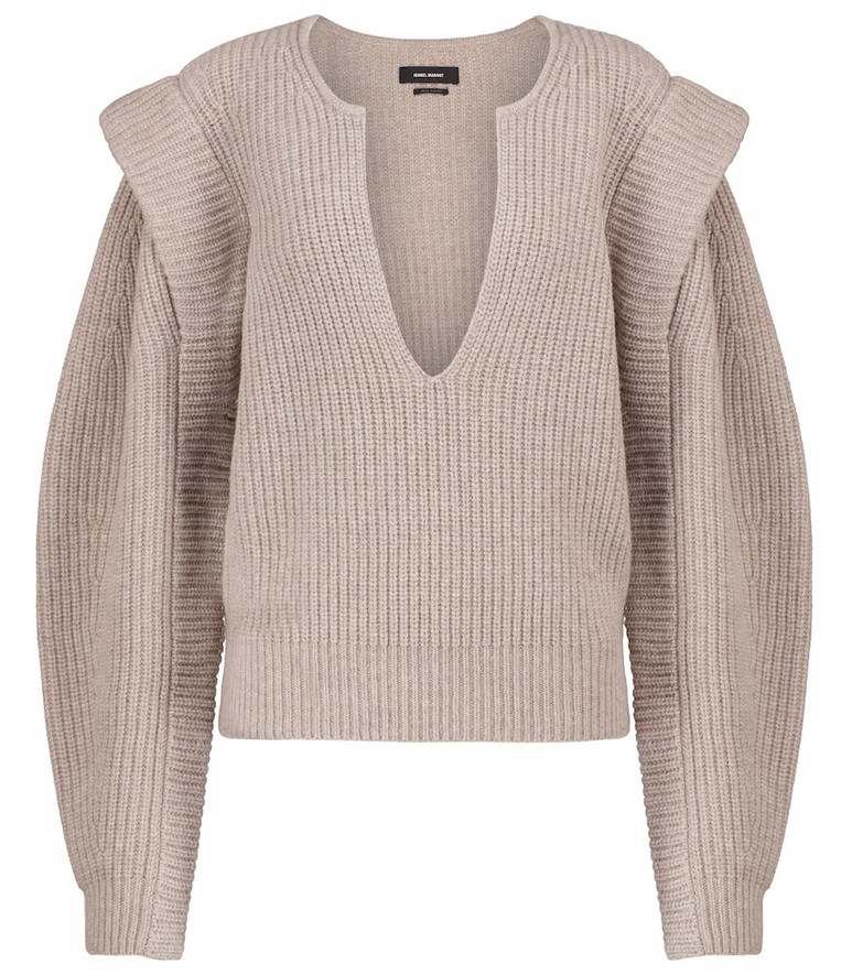 Isabel Marant Reed wool and cashmere sweater in beige
