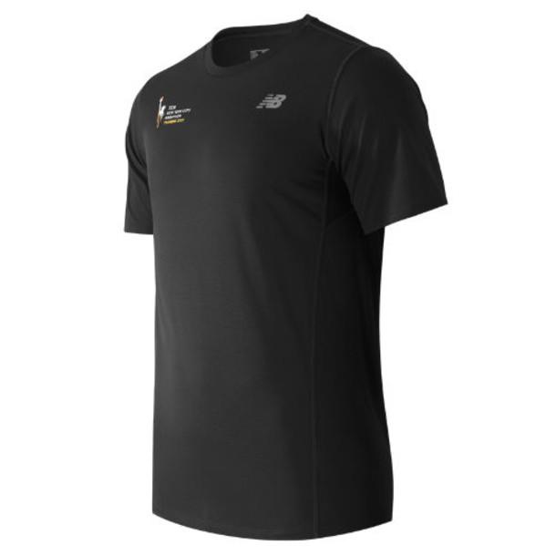 New Balance 53061 Men's NYC Marathon Training SS Tee - Black (MT53061VBK)