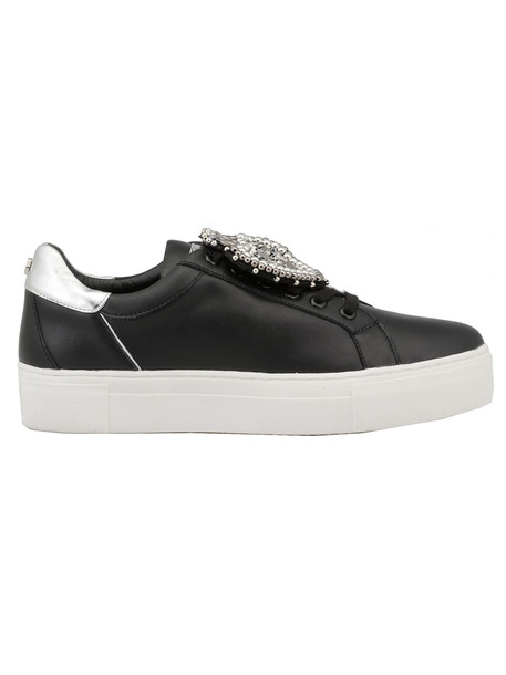 Cult Leather Sneaker in black