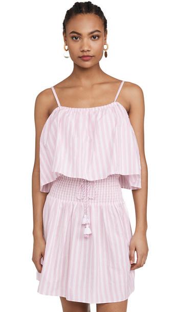 Playa Lucila Stripe Mini Dress in pink