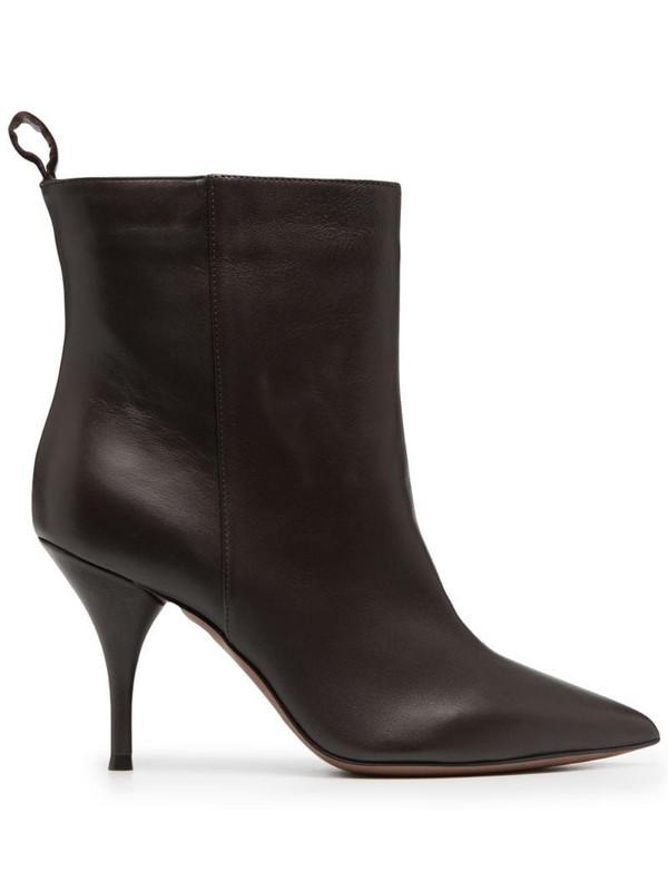 L'Autre Chose leather pointed-toe boots in brown