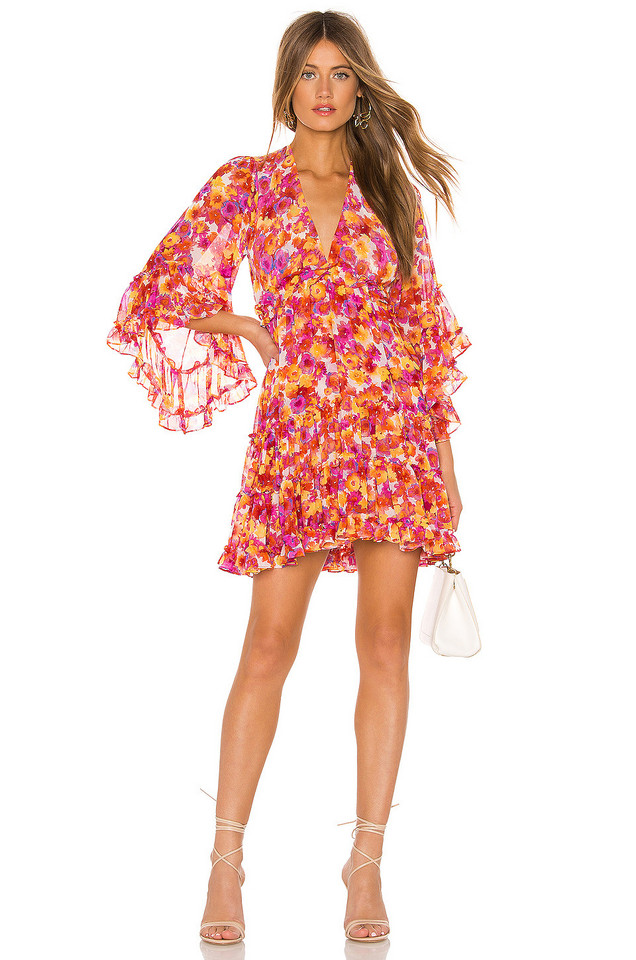 MISA Los Angeles Yasemin Dress in orange