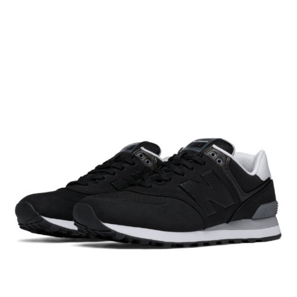 New Balance 574 Paint Chip Men's 574 Shoes - Black/Grey/White (ML574ACB)