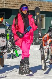 pants,kim kardashian,kardashians,jacket,winter outfits,winter jacket,pink