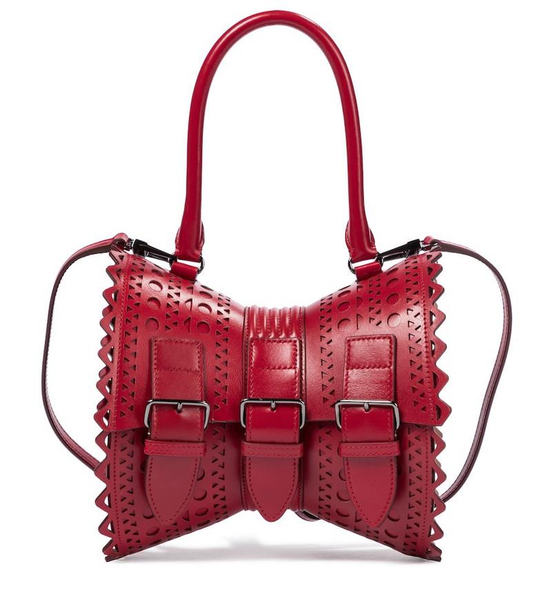 Alaïa Edition 1992 Corset 18 leather shoulder bag in red