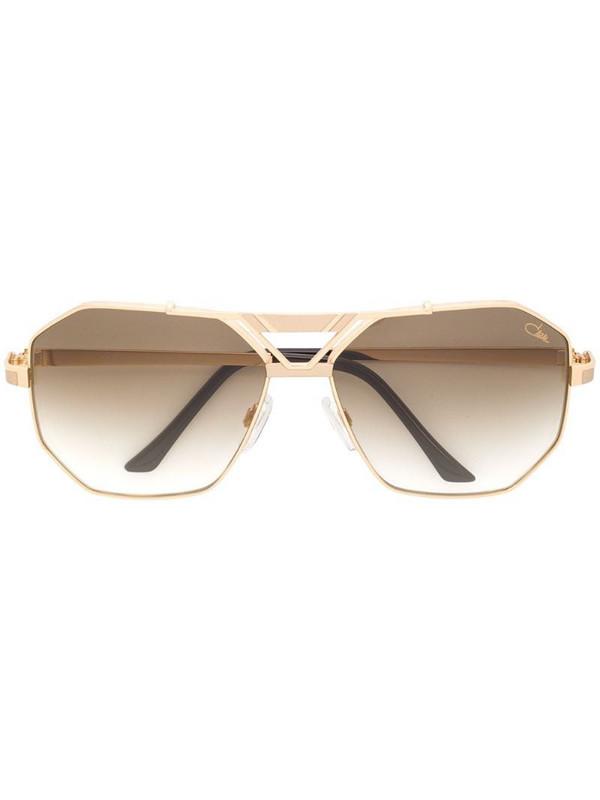 Cazal angular aviator sunglasses in metallic