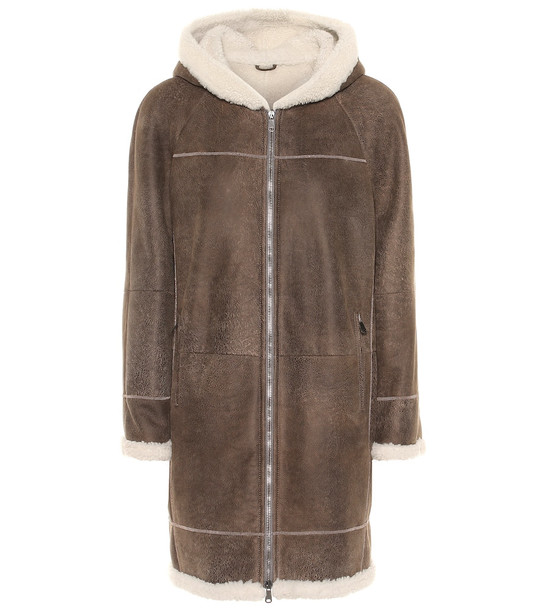 Brunello Cucinelli Shearling coat in brown