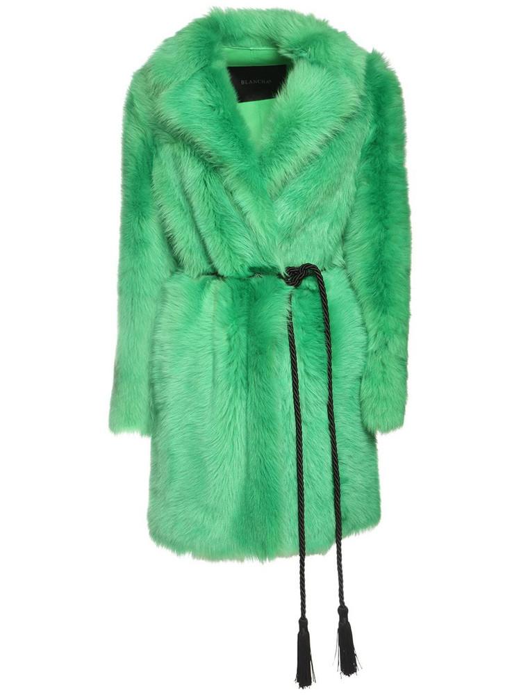 BLANCHA Toscana Shearling Coat in green