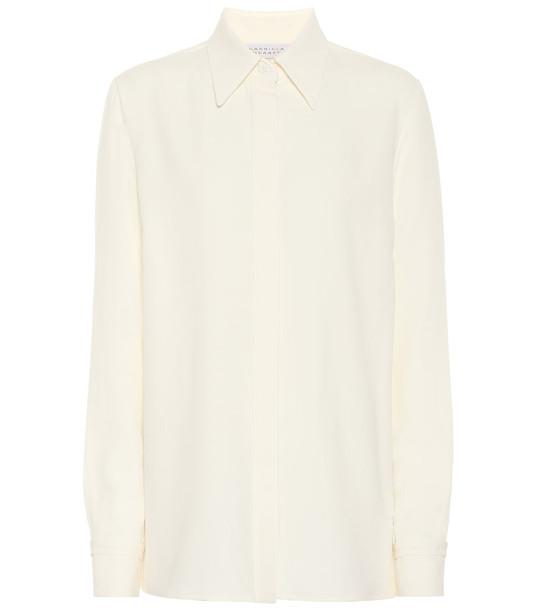Gabriela Hearst Cruz wool and silk shirt in white