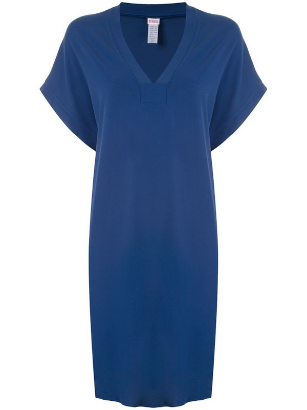 Eres Tali tunic dress in blue