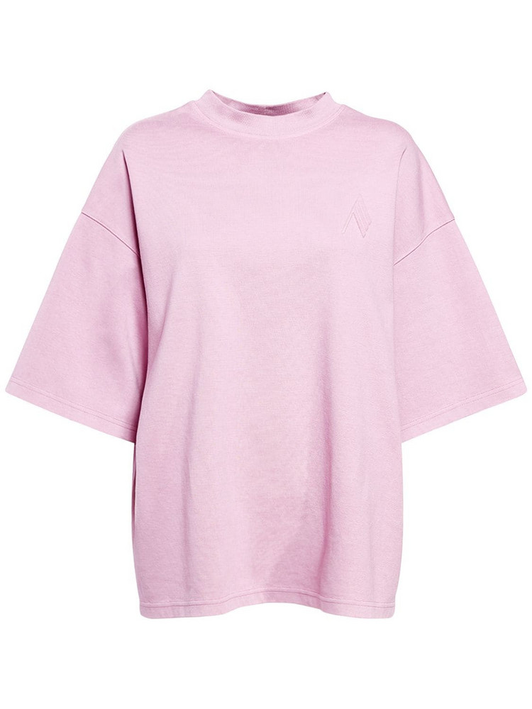 THE ATTICO Cara Cotton Jersey T-shirt in pink