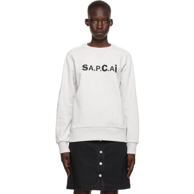 A.P.C. A.P.C. Grey Sacai Edition Tani Sweatshirt