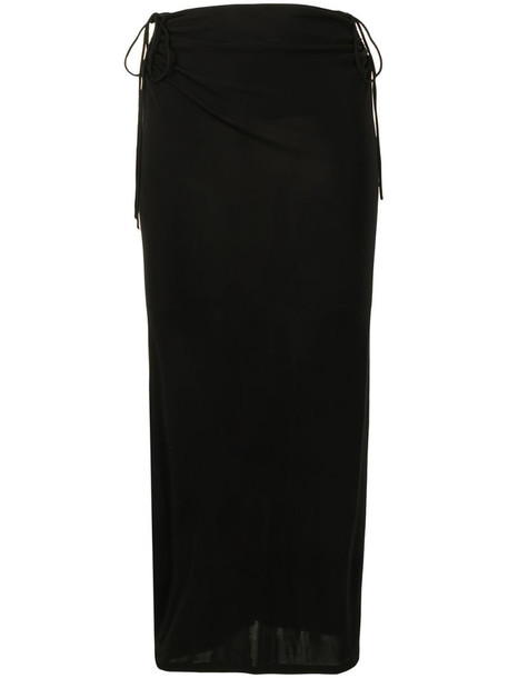Dion Lee wire jersey skirt in black