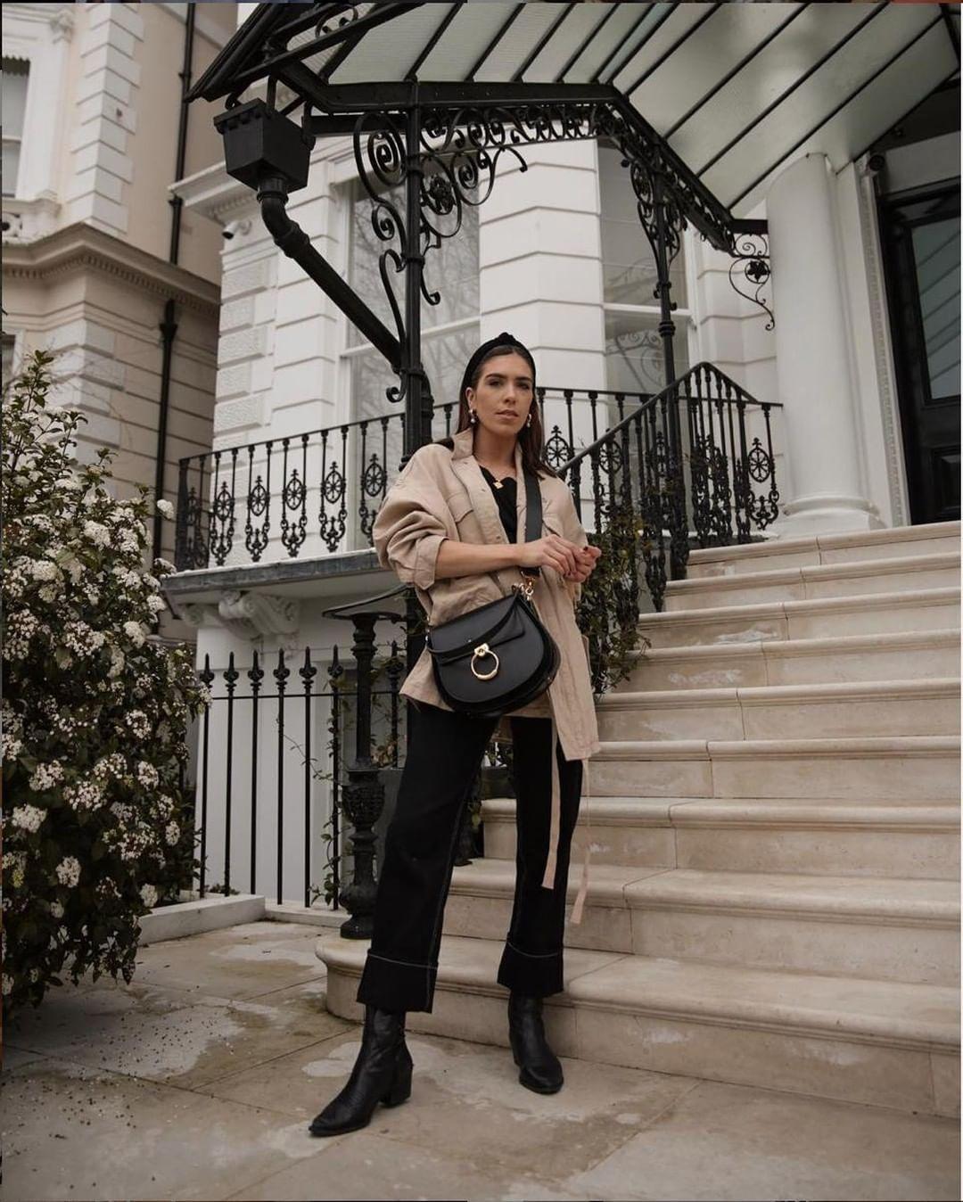 jumpsuit black jumpsuit long sleeves topshop black boots jacket black bag headband