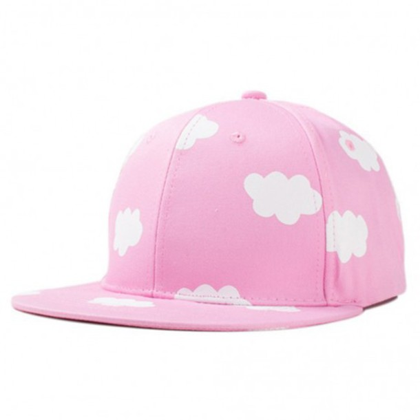 hat pink cap clouds cool girly fashion streetwear summer trendy style boogzel