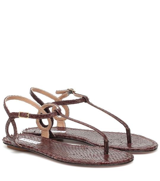 Aquazzura Almost Bare leather sandals in brown