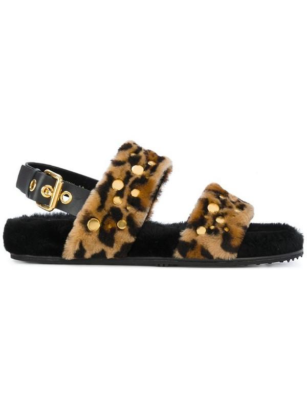 Car Shoe Leo open-toe sandals in brown