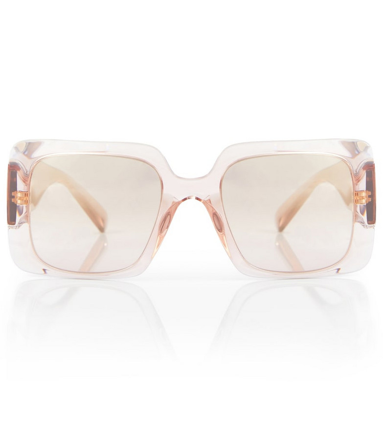 Versace Medusa square sunglasses in brown
